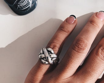 sterling silver ring,knot ring,silver knot,woman's ring,boho ring,arabician ring,statement ring,contemporary ring,thick ring,tranditinal rin
