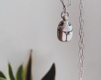 Sterling silver pendant,scarab beetle pendant,scarab necklace,egyptian scarab necklace,alchemist necklace,hieroglyphic necklace,ancient