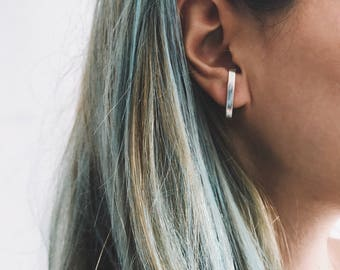 Sterling silver earrings,ear cuffs,minimalistic earrings,edgy earrings,geometric earrings,men earrings,simple earrings,unisex earrings