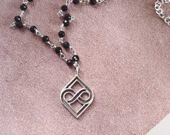 Silver infinite necklace