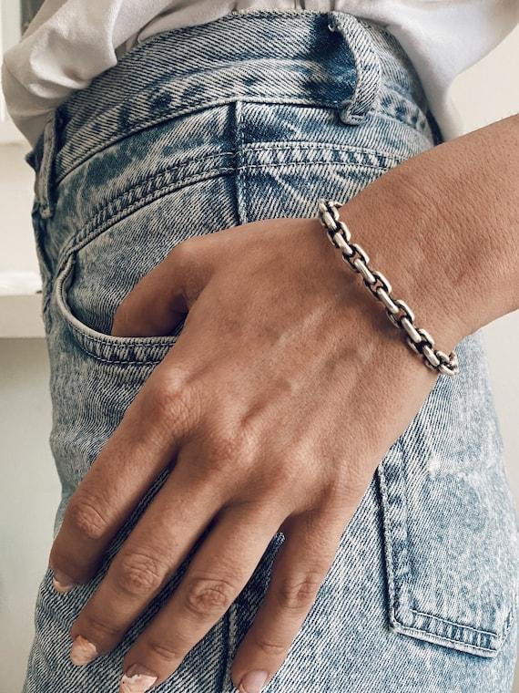 Silver Chain bugle bracelet