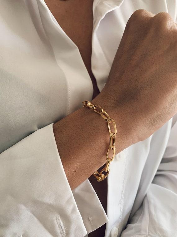 Gold chain bracelet,thick chain bracelet,silver chain bracelet,link chain bracelet,gold box chain bracelet,gold link chain bracelet