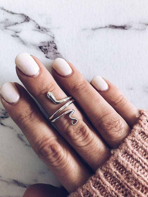 Snake ring,silver snake ring,sterling silver ring,silver midi ring,minimalistic snake ring