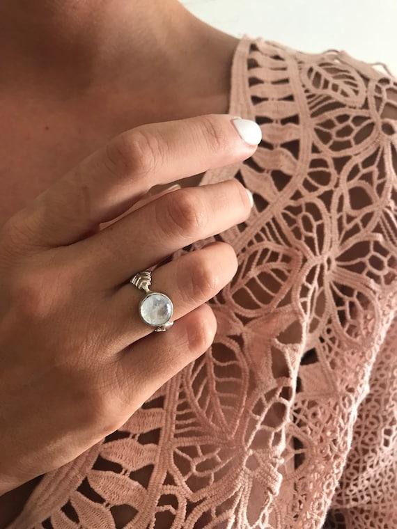 Rainbow Moonstone ring,sterlingsilver ring,labradorite moonstone ring,engagement ring,vintage style ring,one of the kind ring,moonstone ring