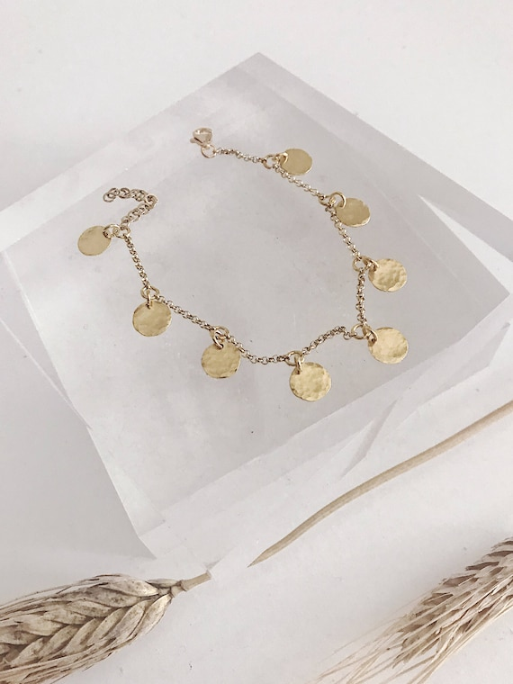 22k gold plated coin bracelet