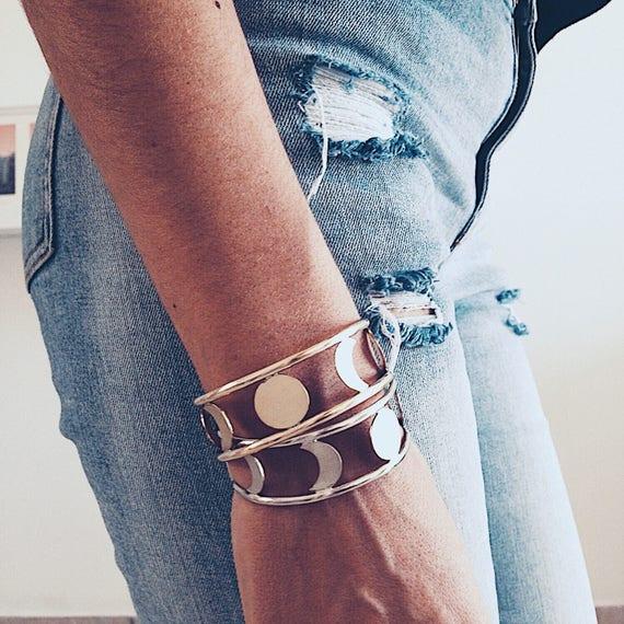 Moon phases bracelet