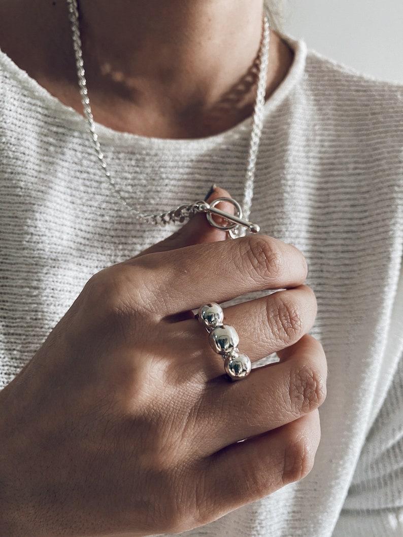 Sterling silver ringband ringsilver 926 ringmen's image 0