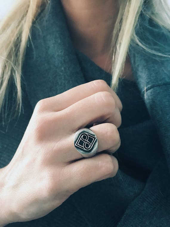 Signet silver ring