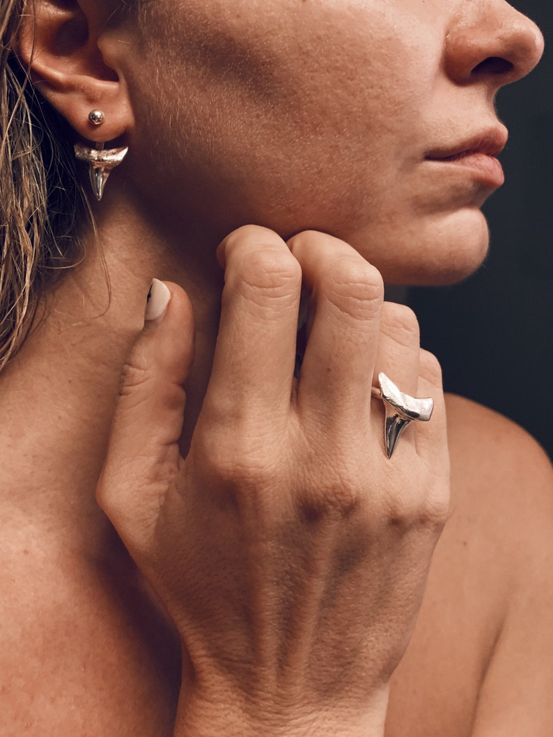 Sterling silver ring,silver shark tooth ring,silver 925 ring,men\u2019s ring,shark tooth,shark ring,tooth ring,boho ring,shaman ring