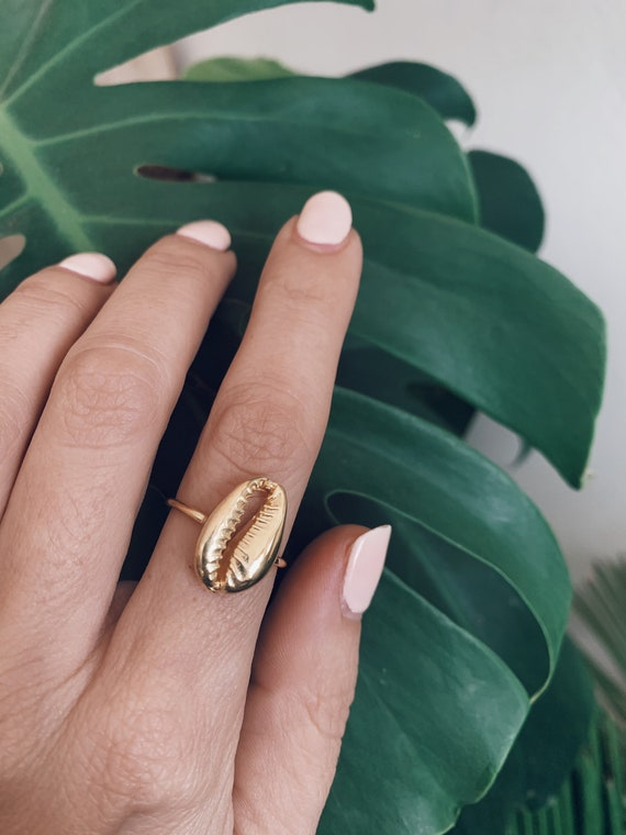Gold shell ring,silver shell ring,silver cowrie ring,stacking ring,gold cowrie ring,cowrie shell ring,thin ring,gift for her,boho ring