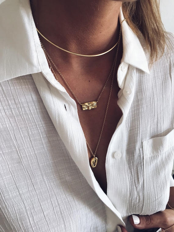 Gold necklace,gold Buddha necklace,gold layered necklace,yoga necklace,zen necklace,gold layering necklace,gift for her,bar necklace