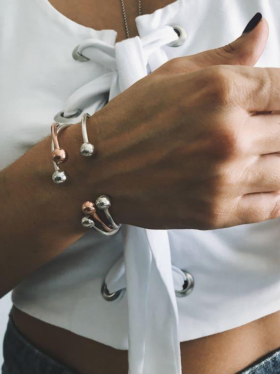 Cuff bracelet,Sterling silver bracelet,open cuff bracelet,minimal bangle,gold bracelet,rose gold bracelet,dainty bracelet,geometric bracelet