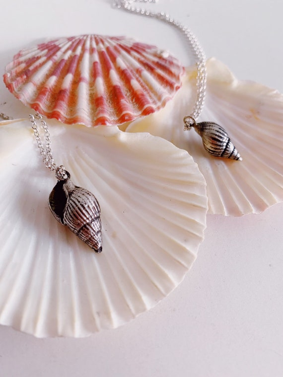 Shell necklace,silver necklace,sea shell necklace,silver shell necklace,sea necklace,sterling silver necklace,mermaid necklace,shell pendant