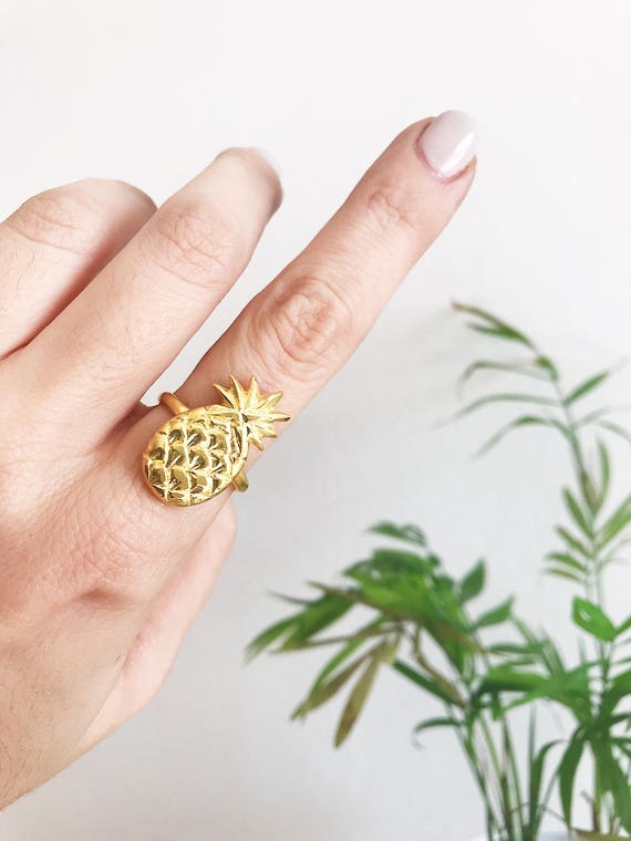 Pineaplle ring,silver 925 ring,sterling silver ring,gold ring,gold pineapple,statement ring,stacking ring,gold filled