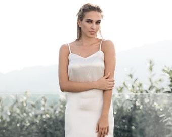87fda3a513 Satin Slip Dress Bridal Slip Satin Dress Satin Pyjamas