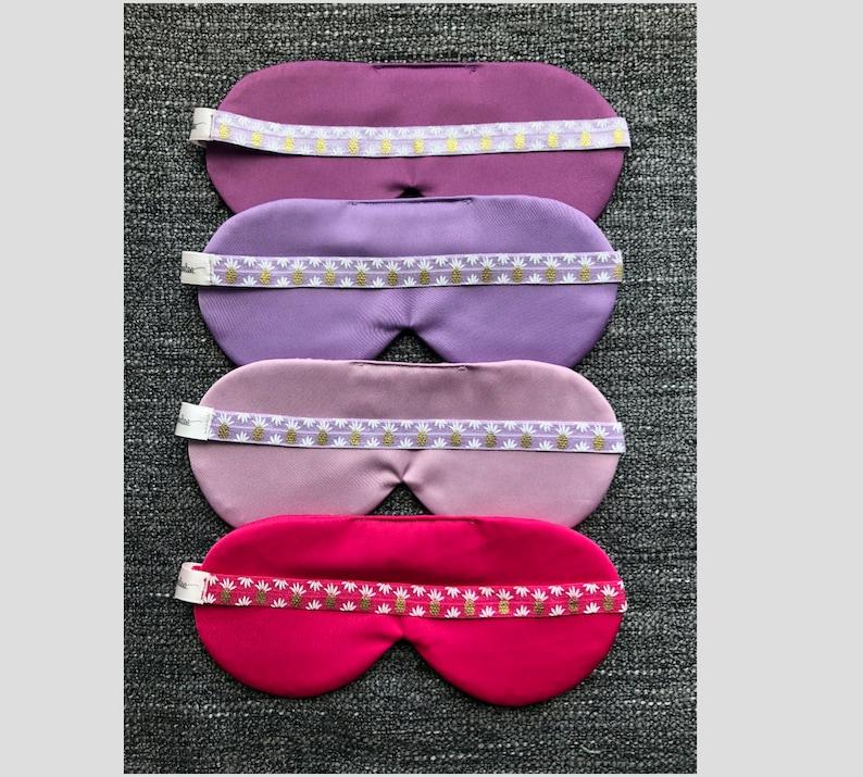 6d9361dec5 Pineapple Sleep Mask / Purple Satin Mask / Lavender Peach   Etsy