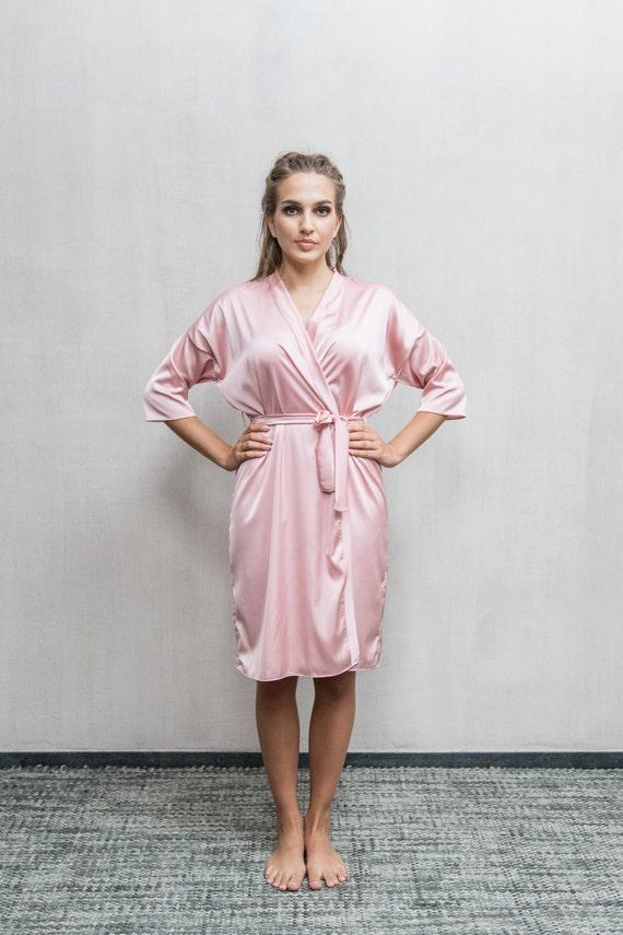 Pink Satin Robe   Blush Kimono   Pink Bridal Robe   Blush  2e790aded