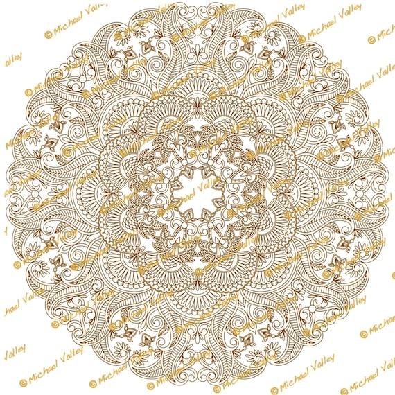 Henna Lace Doily Digital Printable Png Transparent Background Etsy