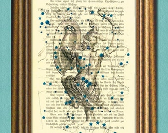 The ORION CONSTELLATION - The HUNTER - Dictionary art - Wall Art