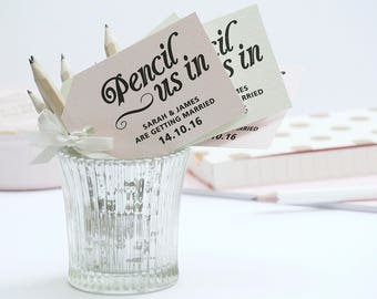 Pencil Us In! Save The Date Cards