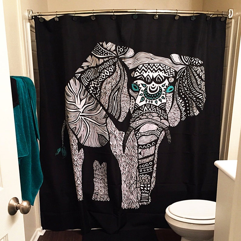 Elephant Shower Curtain Design