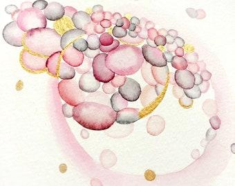 Original Custom IVF Embryo Watercolor in 5.5x8.5 or 9x12 Watercolor Paper