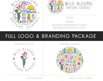 Full Logo & Branding Design Package, Etsy Branding, Custom Branding Package, Logo Design, OOAK Logo, Marketing Package, Social Media Kit