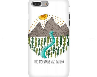 The Mountains Are Calling Phone Case for iPhone Xs Max, Xr, Xs/X, 11, 8, Samsung Galaxy S8, S8+, S9, S9+, S10