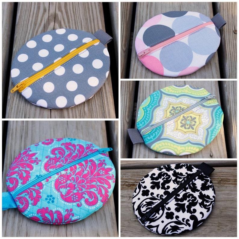 You Choose the Fabric Zipper Case Diaper Bag Accessory Pacifier Pod Pacifier Holder