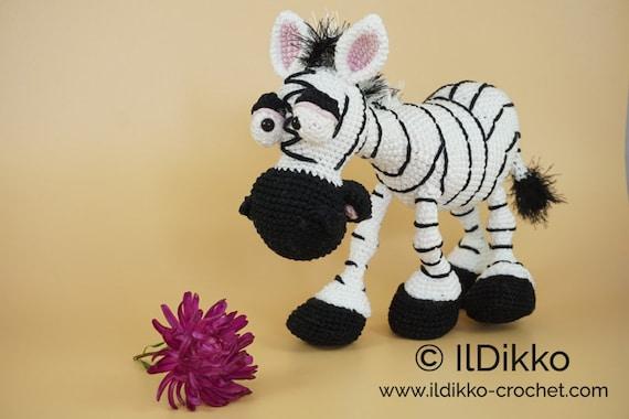 Amigurumi Zane the Zebra - Free Crochet Pattern | 380x570