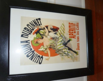 Colorful Reproduction Print of a Vintage French Dubonnet Ad