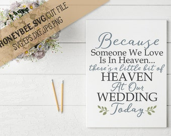 A little bit of heaven at our Wedding svg eps dxf jpg png cut file for Silhouette and Cricut type craft machines