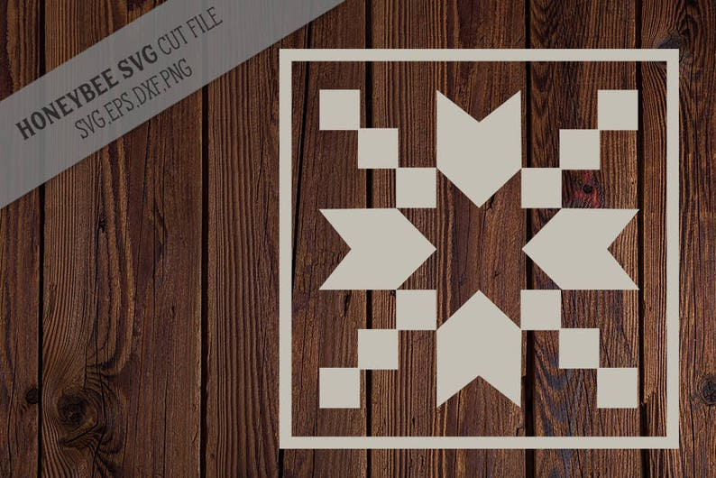 Star Burst Barn Quilt Svg Cut File For Silhouette And