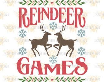 Reindeer Games svg Christmas svg Christmas decor svg Farm Holiday svg Country Christmas svg Silhouette svg Cricut svg Christmas decor svg
