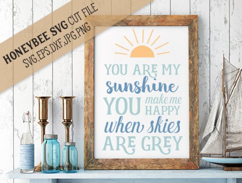You Are My Sunshine Subway Art svg Sunshine svg Country life svg Farmhouse decor svg Farmhouse svg Country svg Silhouette svg Cricut svg
