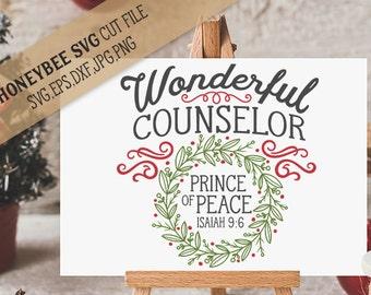 Prince Of Peace svg Christmas svg Christ svg Christ decor svg Holiday svg Holiday decor svg Silhouette svg Cricut svg Jesus svg