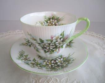 Royal Albert Tea Cup & Saucer - Blossom Time Series - Orange Blossom - Tea Party -  Fine Bone China England
