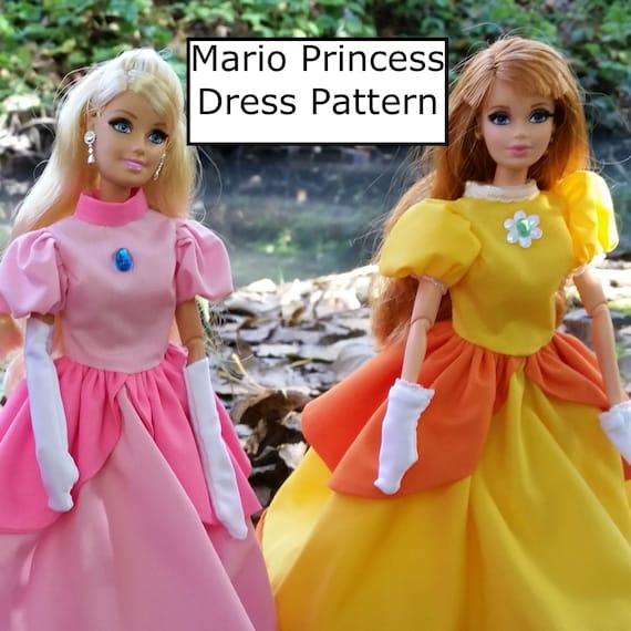 Maddy lou dress for 11 1/2 inch fashion dolls pdf pattern download.