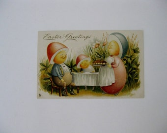 Easter Vintage Post Card - Easter Greetings Series 523 - Raphael Tuck and Sons - Used - 1905
