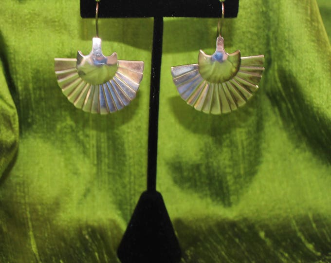 Featured listing image: Silver Fan Earrings
