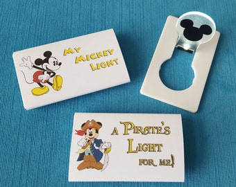 Disney Cruise Light - Cruise Night Light - Fish Extender Gift - DCL FE Gift - LED light - Classic Pirate or Jedi Mickey, Minnie, or Elsa!