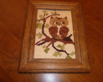Cute Owls Framed Wall Hanging