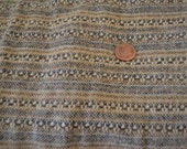 1960 39 s Vintage Woven Wool Fabric 1 yard 30 quot by 63 quot wide colors include blue ecru camel and brown cross woven -great for a cape or poncho