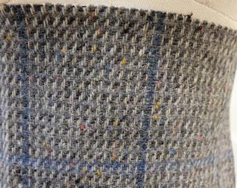 c215ca8c4b9 1980 s Vintage Grey Blue Striped Tweed Wool Fabric Blarney Mills Cork