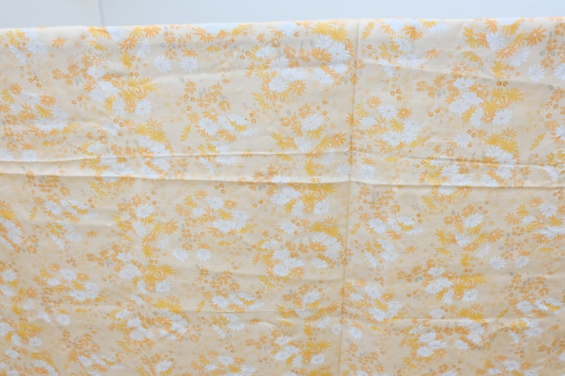 Polyester Tan Grey Blue White Rust Vintage Fabric