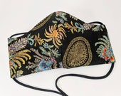 Sumptuous Egyptian inspired fabrics masks