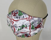 Brand new!! Vintage look Snowy village Christmas mask!