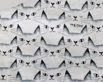 Kitty Cat Meow Pink Tongue Geometric Mask