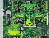 Brand new circuit board print y2k mask!
