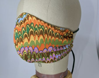 Kaffe Fassett End papers pattern marbled look mask